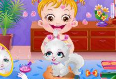 Игра Малышка Хейзел и её озорной кот