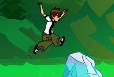 Игра Бен 10: прыжки по льдинам