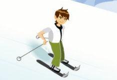 Игра Бен 10 на лыжах