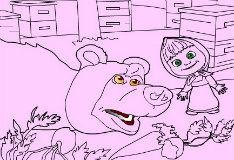 Игра Маша и медведь на пикнике