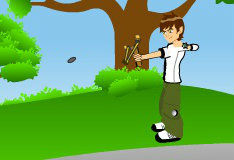 Игра Бен 10: обстрел шариков из рогатки