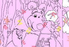 Медведь разгадывает кроссворд