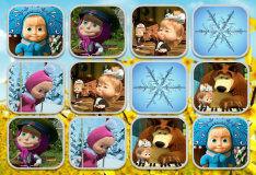 Игра Маша и медведь: найди пару