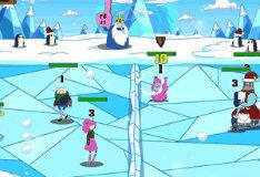 Игра Драка снежками 3