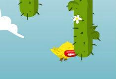 Игра Птичка Пиу - пиу против кактусов