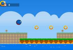 Соник в мире Flappy Bird
