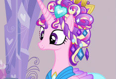 Игра Май Литл Пони: Раскрась принцессу Кристал