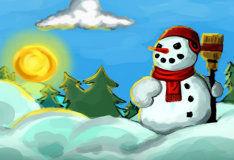Игра Построй снеговика