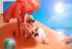 Олаф на пляже