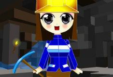 Игра Одень девочку из Майнкрафта
