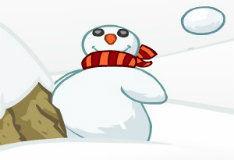 Игра Попади в снеговика
