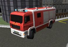 Парковка пожарной машины в 3D