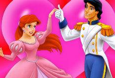 Игра Пазл с очаровательной Золушкой и прекрасным принцем