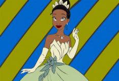 Раскрась принцессу Тиану