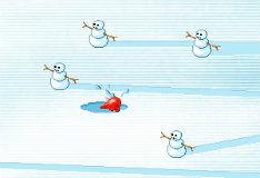 Игра Нашествие снеговиков