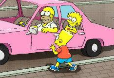 Игра Парковка Симпсонов