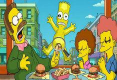 Игра Поиск букв вместе с семейкой Симпсонов