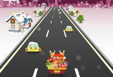 Игра Санта: безумный гонщик