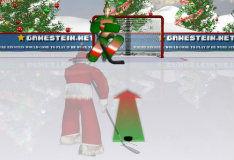 Игра Санта-хоккеист
