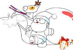Раскрась Санта Клауса