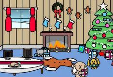 Игра Укрась комнату к новому году