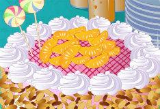 Яркий праздничный торт