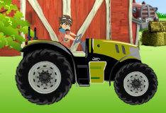 Дэн на тракторе