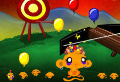 Игра Обезьянка на воздушном шаре