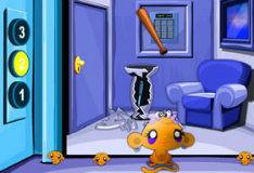 Игра Счастливая обезьянка: гонки на лифтах 2