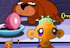 Игра Счастливая обезьянка: гонки на лифтах