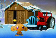 Игра Рождество счастливой обезьянки