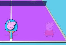 Игра Настольный тенис вместе с Пеппой