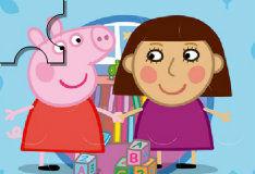 Свинка Пеппа: собери пазл
