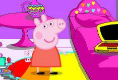 Игра Украсьте комнату свинки Пеппы