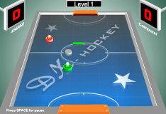 Игра На двоих: аэрохоккей