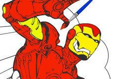 Игра Железный человек: раскраска