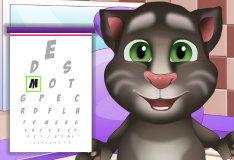 Игра Котенок Том у окулиста