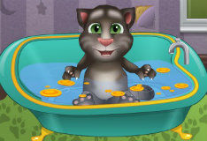 Игра Купание котенка Тома