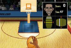 Игра Барак Обама играет в баскетбол