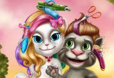Игра Прически Тома и Анджелы