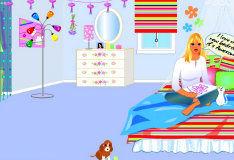 Игра Декорация спальной комнаты