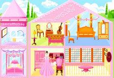 Розовый кукольный домик 3