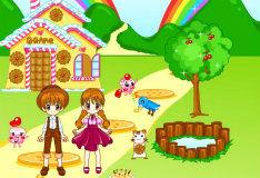 Игра Гензель и Гретель в деревне