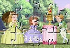 Игра Пазл с принцессой Софией