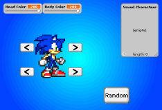 Игра Соник: Создатель персонажей