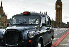 Такси дождливой Англии