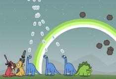Игра Динозавтры против метеоритов