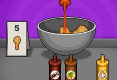 Игра Готовить еду - Папины крылышки
