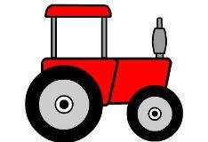 Игра Раскрась-ка трактор