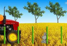 Игра Трактор против кроликов